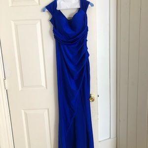 Royal blue Windsor gown